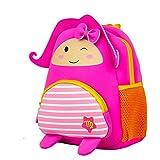 OdeJoy Kinder Mädchen Jungen Karikatur Konstellation Reißverschluss Rucksack Schule Schulter Taschen Dreidimensional Cartoon Backpack Cute Tier Spleißen Students Bags (F,1 PC)