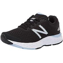 New Balance Women's 680v6 Road Running Shoe, Black (Black/White), 9 UK