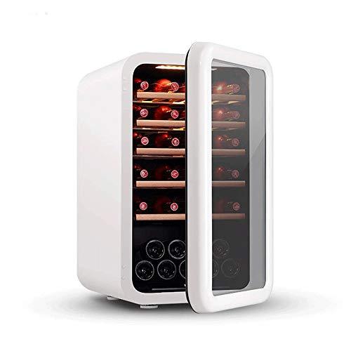 BEANFAN Retro Kleine Wohnzimmer Ice Bar Gefrierschrank Weinschrank, verstellbares Holzregal LED Kaltlicht