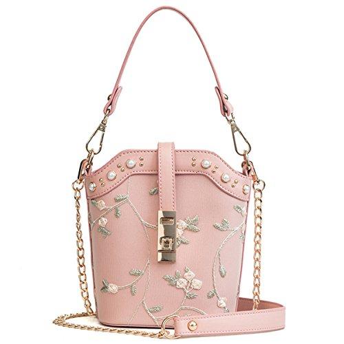 Olici Damen Handtasche, Umhängetasche Kleine Tasche Neuer Stil Einer Koreanische Kette Kette Nieten Spitzen Schaufel Tasche,