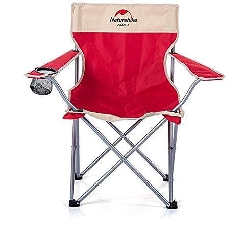 Im Freien Klappstuhl Portable Strandstuhl Rückenlehne Hocker Klappstuhl , Red