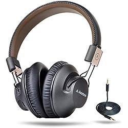Avantree 40 horas Auriculares Inalambricos TV, Over Ear Bluetooth Diadema Auriculares con micrófono, APTX BAJA LATENCIA Audio rápido para PC, Plegables, con NFC, modo con Cable - Audition Pro [2 años de garantía]