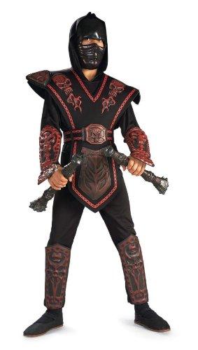 Skull Red Kostüm Ninja (Red Skull Warrior Ninja Chld)