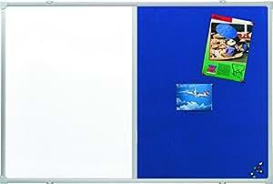 Tableau combi Whiteboard + liège 90x120cm bleu