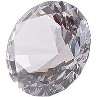 Pisapapeles LONGWIN con diseño de diamante de varias caras, 100 mm, color sólido, transparente