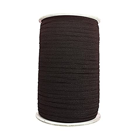 10m x 9mm Wide Black – Elastic Cord Flat Stretchy for Clothing, Skirt and Trousers, Straps Waistbands by Wedding