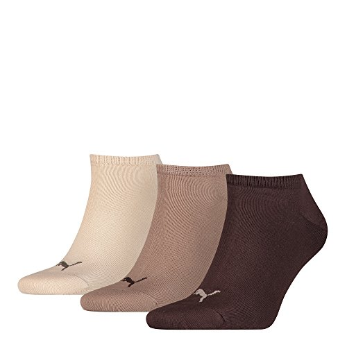 6 pair Puma Sneaker Invisible Socks Unisex Mens & Ladies In 3 Colours 9Paar = chocolate/walnuss/safari