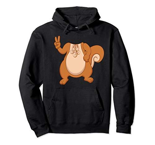 Eichhörnchen Zubehör Kostüm - Eichhörnchen Halloween Kostüm Peace Zeichen Pullover Hoodie