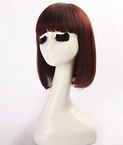 WINBOWIG Pelucas cabello humano recto natural Pelucas