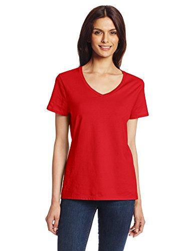 Hanes - T-shirt de sport - Manches Courtes - Femme rouge profond