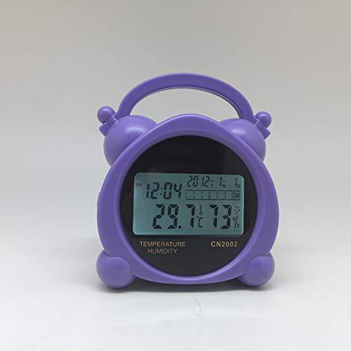 LJJY Los termómetros electrónicos, Cubierta Digital multifunción higrómetro de Alarma...