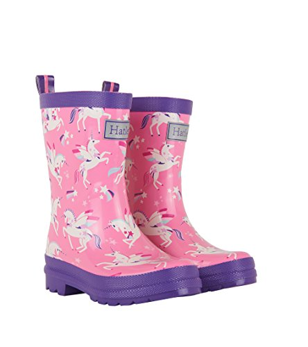Clearance Toddler (Hatley Mädchen Printed Rain Boots Arbeits-Gummistiefel, Pink (Winged Unicorns), 25)