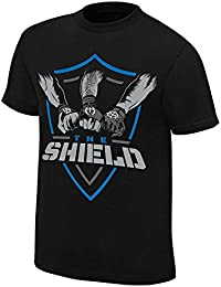 Step Shoes Men's Black Cotton Half Sleeve WWE T Shirts For Men Shield Under 500 (The-Shield_WWE T Shirts For Men-N12)