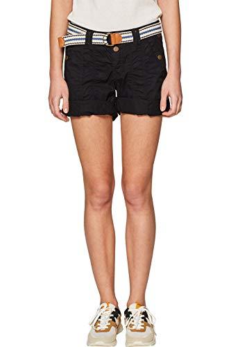 edc by ESPRIT Damen 039CC1C002 Shorts, Schwarz (Black 001), W36(Herstellergröße: 36)