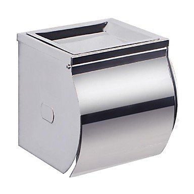 DZXYA Doti Creative decorazioni per la casa Moderno Chrome Stainless Steel Toilet Paper Holder Single Roll with Cover, A2071