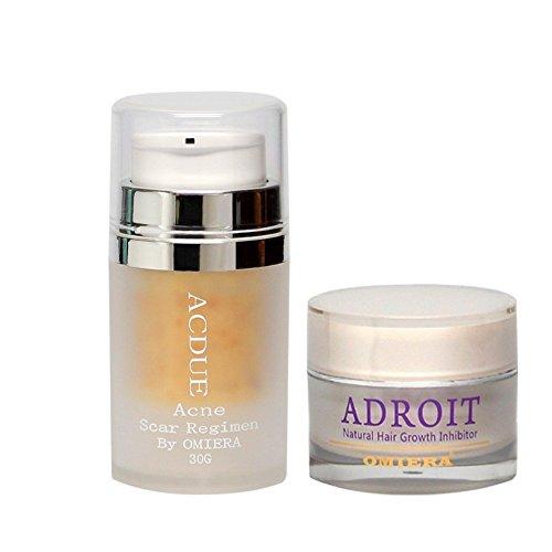 Omiera Labs Akne-Creme und Haarwachstumsinhibitor Geschenkset
