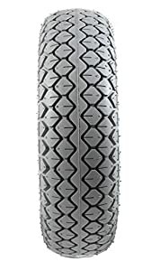 Grey Pneumatic Block Tread Mobility Scooter Tyres 330 x 100/4.00-5