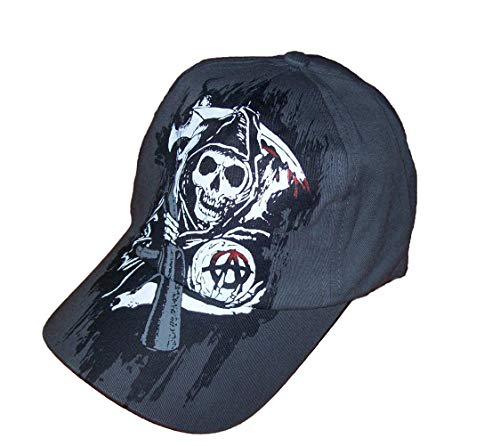 A-flex-fitted-caps (SOA Herren SONS OF ANARCHY FEAR THE REAPER Flex Fitted Baseball Cap/Hat)