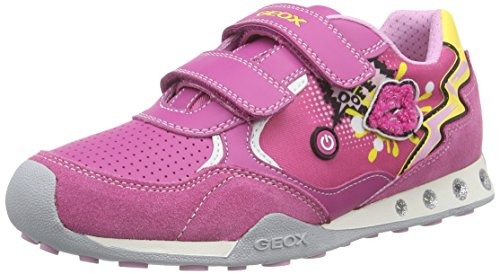 Geox Mädchen JR NEW JOCKER GIRL B Low-Top, Pink (FUCHSIAC8002), 34 EU - Geox Jocker Girl