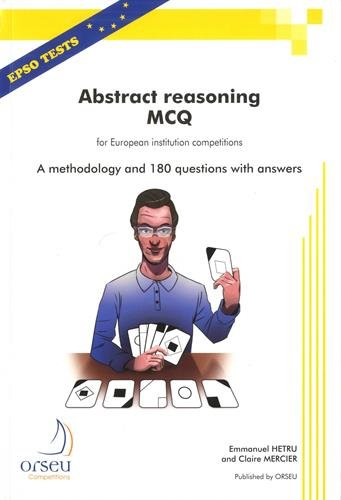 Abstract reasoning MCQ for European institution competitions : A methodology and 180 questions with answers