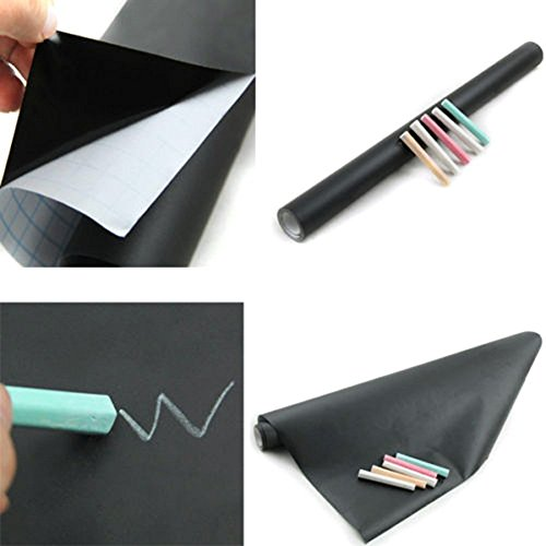Tiny Deal 200 X 45Cm Waterproof Chalkboard Removable Vinyl Wall Sticker Decal...