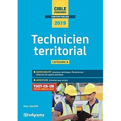 Technicien territorial Catégorie B : Tout-en-un inclus annales 2018