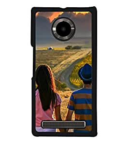 Vizagbeats Couple Watching Clouds Back Case Cover For Yu Yuphoria