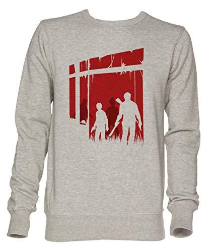 Jergley Zuletzt Menschen Unisex Grau Jumper Sweatshirt Herren Damen Größe S | Unisex Jumper Sweatshirt for Men and Women Size S (Us The Of Last Clicker)