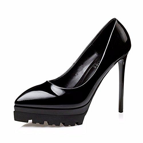 Flyrcx Brevet Européen En Cuir Imperméable À L'eau Taiwan A Souligné Stilettos Sexy Lady Personnalité Chaussures De Fête A
