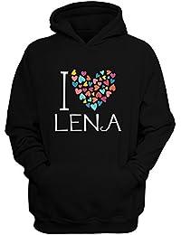 Idakoos I love Lena colorful hearts - Weibliche Namen - Hoodie