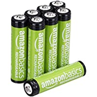 AmazonBasics Vorgeladene Ni-MH AAA-Akkus - Akkubatterien (1.000 Zyklen, typisch 800mAh,  1.2 V ,minimal 750mAh) 8 Stck (Äußere Hülle kann von Darstellung abweichen)