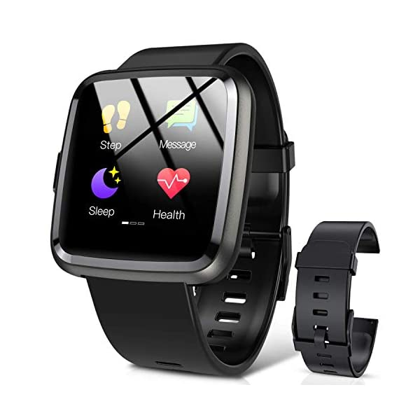 Hommie Smartwatch, S2 Reloj Inteligente con Pantalla Táctil Completa, Pulsera Actividad Inteligente ImpermeableIP67 con… 2