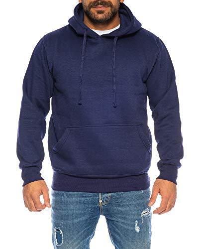 Raff&Taff Hoodie Kapuzenpullover Sweatshirt Sweater Pullover   S - 6XL   Sport Alltag Freizeit   Premium Baumwolle Fleece Innenseite (Navy, 6XL)