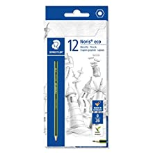 Staedtler Noris Eco 180 30-2B Pencil Hardness 2B, Pack of 12 in a Card Box