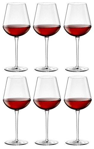 Verres à vin Inalto Tre Sensi - petite taille - coffret cadeau de 6 verres - 305 ml