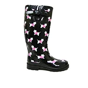 Ladies Wellington Boots Printed Wellies Womens Size 8