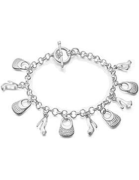 Damen Armband Retro Armkette Armreifen Charm Armreif aus 925 Sterling Silber Weihnachtsgeschenke für Kinder Frauen