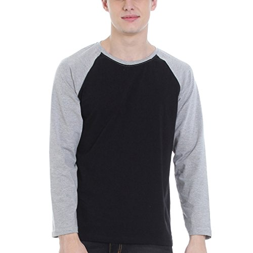 Rocx Round Long Sleeves T Shirt Men – Casual Men's Tees Cotton Tshirt Durable And Easy To Wash Comfortable Tshirt For Men Casual Wear-RCTRR0011-XXL