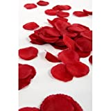 1200 Silk Wedding Flower Petals By Wedding Direct TM 7 Colours, Deep Red