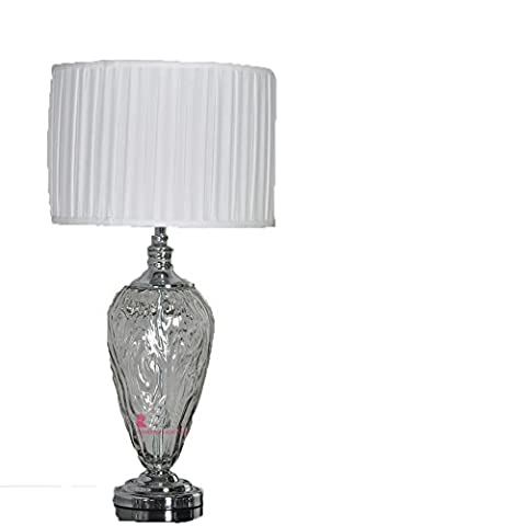 Lampe de table en verre