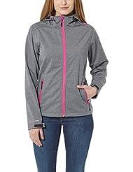 Ultrasport veste softshell pour femme Salt & Pepper  avec Ultraflow 10 000