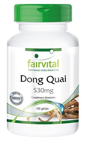 Dong Quai 530mg - racine d'Angelica sinensis - 100 gélules - riche en vitamine E, bêta-carotène, niacine et B12