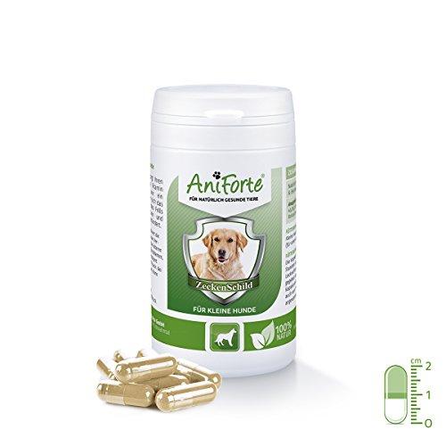 AniForte Zeckenschild natürlicher Zeckenschutz 60 Kapseln - Naturprodukt für kleine Hunde bis 10 kg