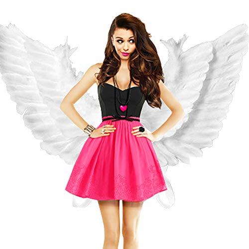 hfurehf Engel Feder Flügel Erwachsene Fee Kostüm Verkleidung -