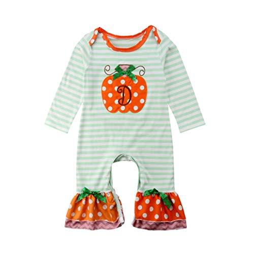 (QUINTRA Halloween-Kleinkind-Baby-Jungen-Gestreifter Punkt-Spielanzug-Overall-Kleidung)