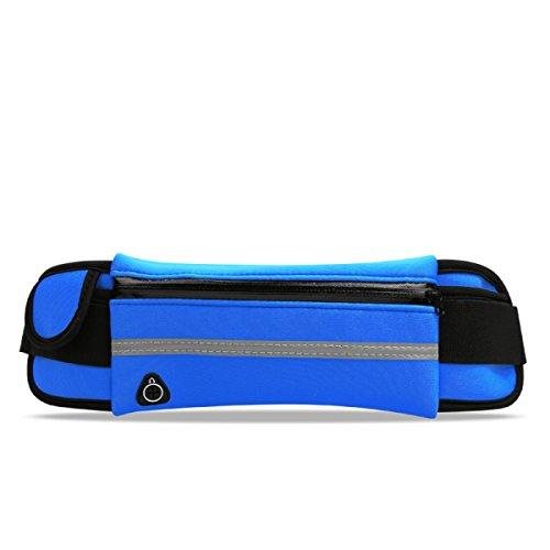 GXYLLDS Cintura Pack Deporte Correr Fitness Viajes Música Impermeable Seguridad Noche Reflexivo Bolso De Teléfono Móvil Hombres Y Mujeres Correa De Correr,A2-OneSize