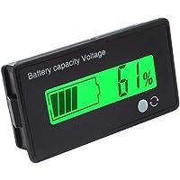 Monitor con pantalla LEC verde de 12V multifuncional para medir la capacidad de la batería de plomo-ácido, para moto y coche de golf