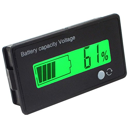 Battery Meter (cleanpower 12 V Multifunktionale LCD Blei-Säure-Batterie Kapazität Monitor Manometer Meter für Motorrad Golf Cart Auto)