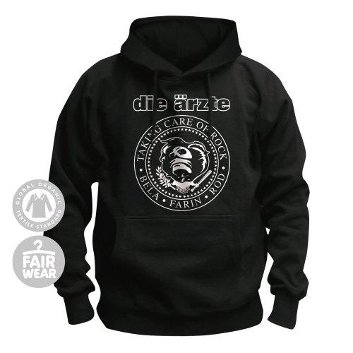 DIE ÄRZTE - Taking care of Rock - Kapuzenpullover / Hoodie Größe M (Erwachsene Für T-shirt Schwarz Band)