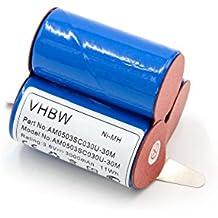 vhbw NiMH batería 3000mAh (3.6V) para robot aspirador robot autónomo de limpieza AEG D-SCX3, E BP 0017, Electrolux AG41W, Emerich SIPA, Lervia